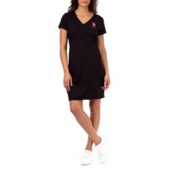 Φόρεμα | Κοντομάνικο | Μαύρο | Φούξια logo