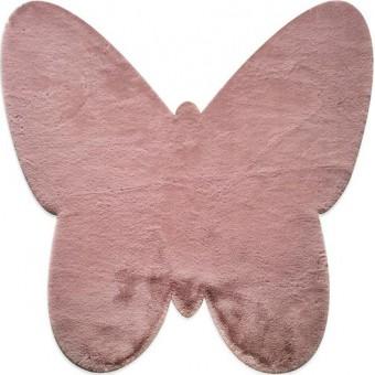 Χαλάκι γούνινο | JM7 Dark Pink Butterfly Antislip