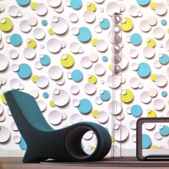 Ταπετσαρία τοίχου | Κύκλοι 3D | Just Like It
