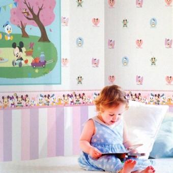 Ταπετσαρία τοίχου παιδική | Disney | Cenefa Mickey