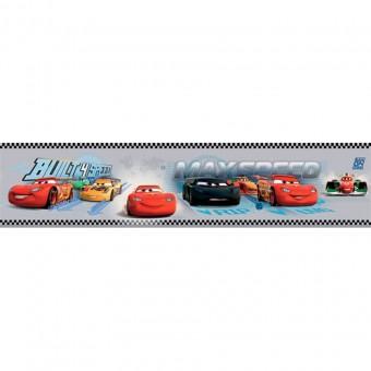 Ταπετσαρία τοίχου παιδική   Μπορντούρα   Disney   Cenefa Cars Gris