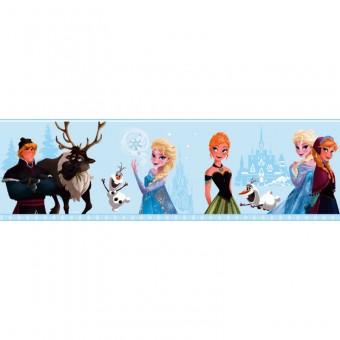 Ταπετσαρία τοίχου παιδική   Μπορντούρα   Disney   Frozen Azul