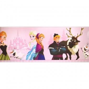 Ταπετσαρία τοίχου παιδική   Μπορντούρα   Disney   Cenefa Frozen Rosa