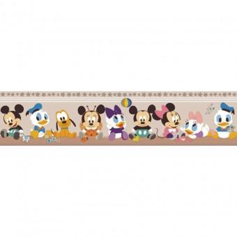 Ταπετσαρία τοίχου παιδική   Μπορντούρα   Disney   Cenefa Mickey Beige