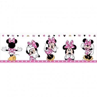 Ταπετσαρία τοίχου παιδική   Μπορντούρα   Disney   Cenefa Minnie fuchsia