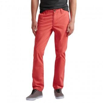 Παντελόνι υφασμάτινο   κόκκινο - κοραλί    Slim Straight