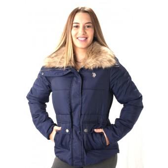 Μπουφάν Γυναικείο | Jacket | Αδιάβροχο | Με πλούσια γούνα | Μπλε | No Large
