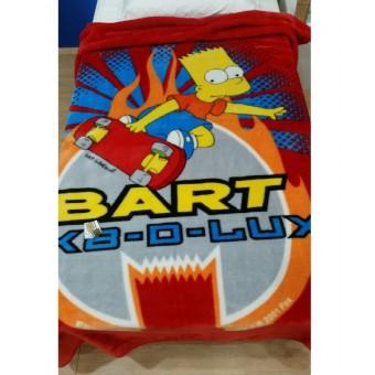 Κουβέρτα παιδική βελουτέ   Bart Simpson   μονή