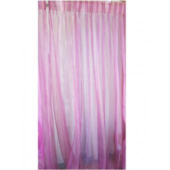 Κουρτίνα 120x268   Διάφανη φούξια   Έτοιμη ραμμένη