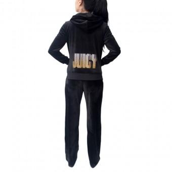 Φόρμα Γυναικεία | Βελουτέ | Σετ Με Logo | Μαύρο | 5520JCAPW045-101