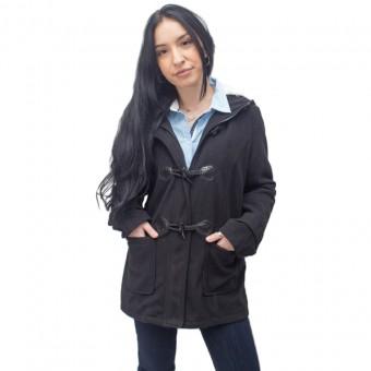 Παλτό Γυναικείο | Μαύρο | Γουνα στη κουκούλα