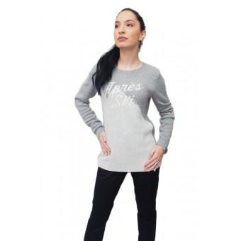 Πουλόβερ γυναικείο   Βαμβακερό   Γκρί   Άσπρο   RM37678332-037