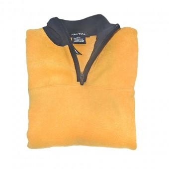 Μπλούζα φούτερ fleece | κίτρινο - μπλέ