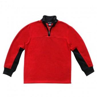 Μπλούζα φούτερ fleece | κόκκινο - μπλέ | 16 ετών