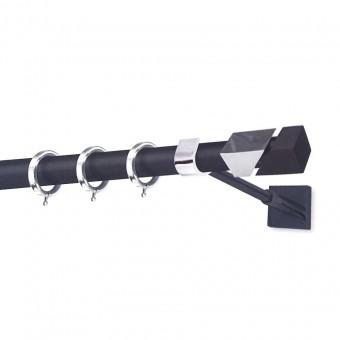 Κουρτινόξυλο Perfect Luxury Μύκονος μαύρο - χρώμιο 160cm