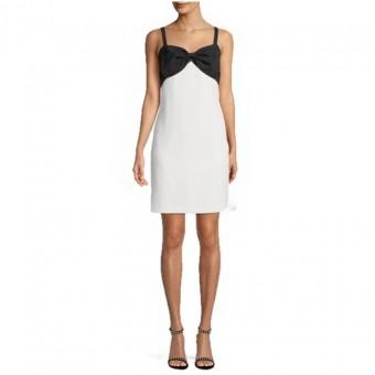 Φόρεμα | Κρεπ | Άσπρο - Μαύρο
