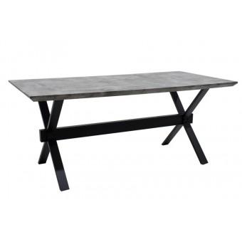Τραπέζι γκρί - μαύρο | 011-000019 | 180x90x75