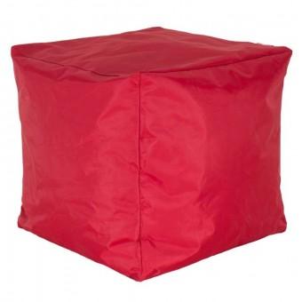 Πουφ σκαμπώ Cube αδιάβροχο κόκκινο | 056-000056