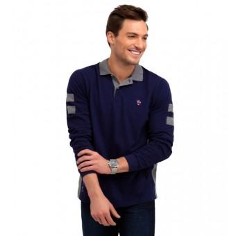 Μπλούζα Polo μακρυμάνικη | Μπλέ Navy