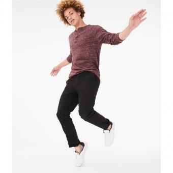 Παντελόνι υφασμάτινο | slim straight | μαύρο | Νο 36Χ32