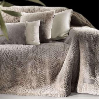 Ριχτάρι τετραθέσιο με μαξιλαροθήκη Crusty Mink 170x350  μπέζ γούνα