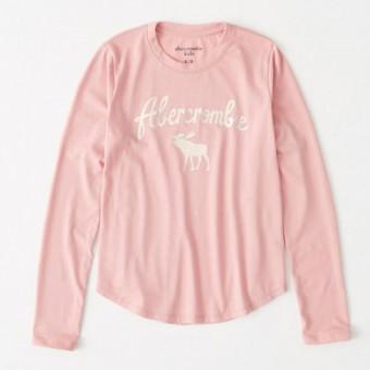 Μπλούζα μακό μακρυμάνικη ροζ | μεταλλικό Logo