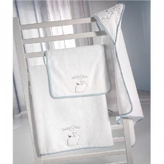 Σετ πετσέτες παιδικές μπάνιου + χεριών | Lapin blue