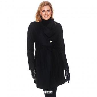 Παλτό Γυναικείο | Μάλλινο | Με Ζώνη | Μαύρο