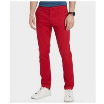 Παντελόνι υφασμάτινο | Μπορντό ελαστικό | Slim fit | 7885120 606
