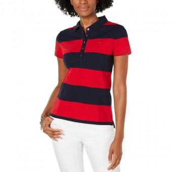 Μπλούζα Γυναικεία polo | Κοντομάνικη | Ριγέ | Κόκκινο-Μπλε | RM376A0399 611