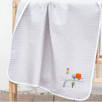 Κουβέρτα πικέ bebe   Beep Beep   110x140