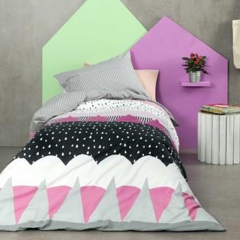 Σεντόνια μονά φανελένια   Snowy Pink   170x260