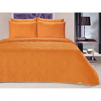 Κουβερλί υπέρδιπλο 220x240 | Toronto Orange | με σετ σεντόνια δώρο