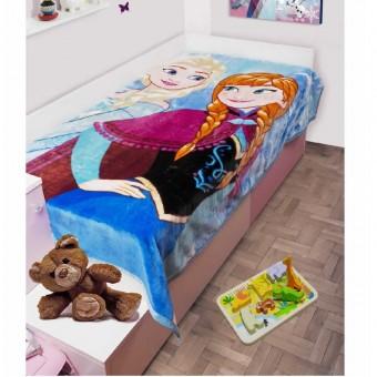 Κουβέρτα παιδική βελουτέ   Frozen   μονή 160x220