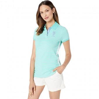 Μπλούζα Γυναικεία polo | Κοντομάνικη | με δανδέλα στα πλάγια | τυρκουάζ