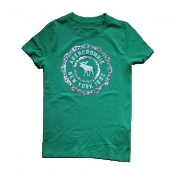 Μπλούζα παιδική | μακό κοντομάνικη | πράσινη με παγιέτες | 9-10 ετών