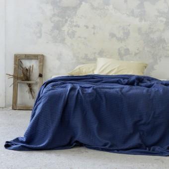 Κουβέρτα πικέ μονή | Habit Navy Blue | 160x240
