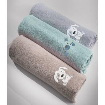 Κουβέρτα bebe   Baby Bear Silver   100x140