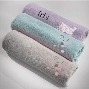 Κουβέρτα bebe   Mythical Iris Lilac   100x140