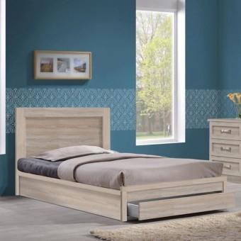 Κρεβάτι ημίδιπλο με συρτάρι | Life Sonoma EΜ3632,2