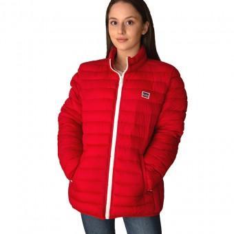 Μπουφάν Γυναικείο | Αδιάβροχο | Αντιανεμικό | Με πουγκί αποθήκεσης | Logo | Κόκκινο