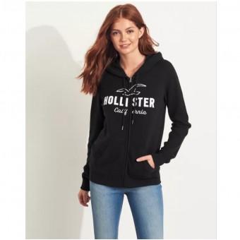 Ζακέτα Γυναικεία | Φούτερ | με κουκούλα | Κεντητό λογότυπο | Μαύρη | XL | 352-524-0547-900