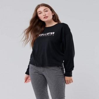 Μπλούζα | Μακό μακρυμάνικη | Μαύρη