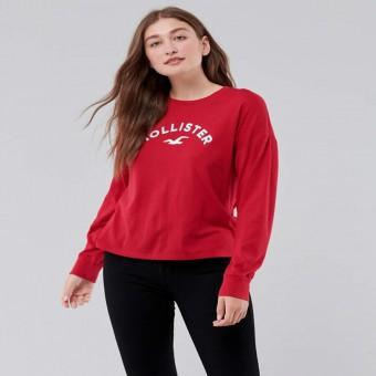 Μπλούζα | Μακό μακρυμάνικη | Κόκκινο