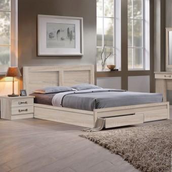 Κρεβάτι υπέρδιπλο με συρτάρια | Life Sonoma EΜ363,2