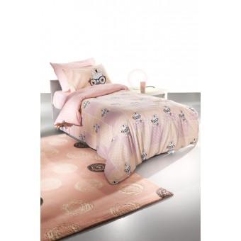 Παπλωματοθήκη παιδική Rosie Pinky με μαξιλαροθήκη   160x220