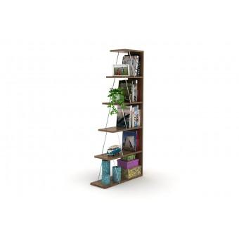 Βιβλιοθήκη mini Tars Καρυδί | 65x22x146