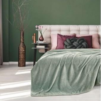Κουβέρτα fleece μονή 160Χ220 | Rombus Olive | 160x220