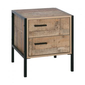 Κομοδίνο Pallet Antique Oak E8433,W | 44x40x50