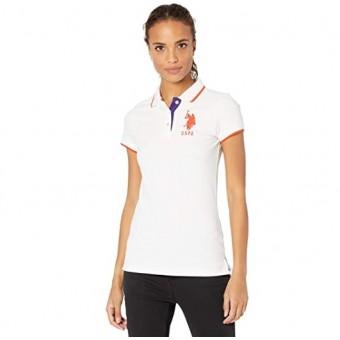 Μπλούζα Γυναικεία | Κοντομάνικη | Κεντητό λογότυπο | Άσπρη